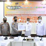 Penandatanganan NPHD Penerimaan Bintara Polri