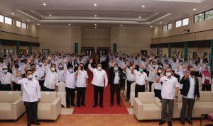 Launching  Seleksi Rekrutmen Program Pendidikan Tenaga Pembangkit Listrik (PTPL) PT DSSP Power Sumsel, bertempat di Gedung Dharma Wanita Sekayu, Rabu (23/6/2021).