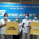 """Bersiaplah Sambut Era Baru Penerbangan Milenial,"""" SUPER AIR JET Resmi Mengantongi Sertifikat AOC"""