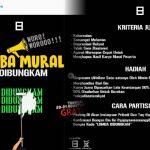 HEBOH!!! Lomba Mural Se-Indonesia, Jika Berhasil Dihapus Penguasa akan Dapat Nilai Lebih