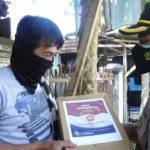 Polres Lahat Bagikan Sembako Pada Pedagang Cilik