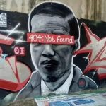 Lagi! HEBOH, Mural 'Jokowi 404: Not Found'