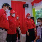 Kolaborasi BIN, Satgas COVID-19 dan Pemkab Muba Gelar Vaksin Massal untuk Pelajar SMP dan SMA di Muba