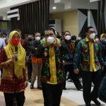 Wako, Wawako dan Sekda Kota Metro Kunker ke Walikota Palembang
