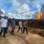 Minta Tim Ahli Padamkan Api Sumur Ilegal di Kabupaten Muba