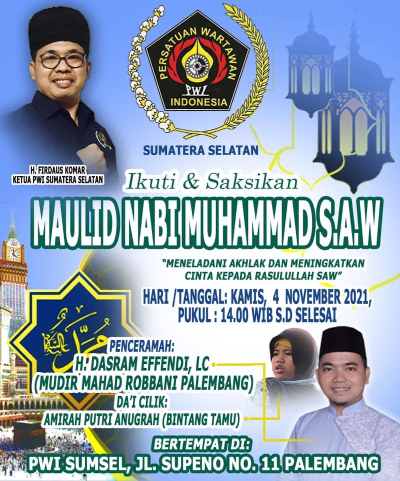 Peringatan maulid nabi SAW oleh PWI Sumsel