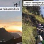 VIDEO Viral Cowok Panik Drone Rp 70 Juta Jatuh ke Tebing, Aksi Warga Setempat Bikin Terharu