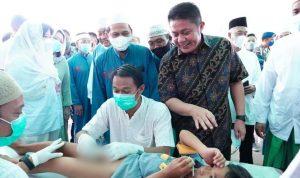 Gubernur Sumsel Tinjau Khitanan Massal Yayasan Masjid Agung Palembang